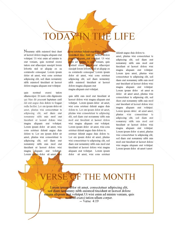 Thanksgiving Church Newsletter