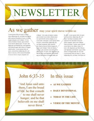 Fall Newsletter Template Design