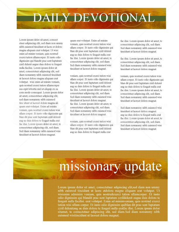 Fall Newsletter Template Design | page 2