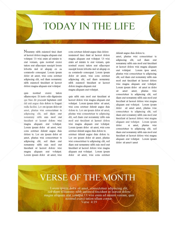 Fall Newsletter Template Design | page 3