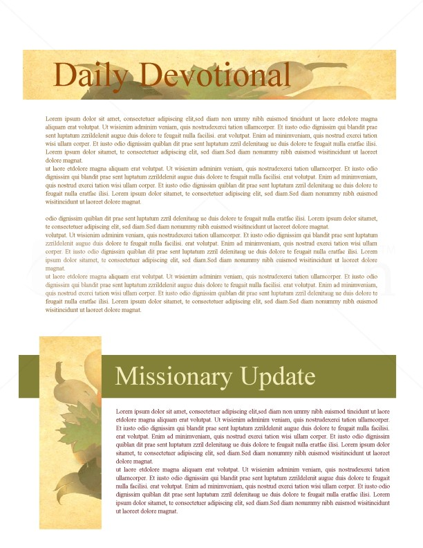 Harvest Of Plenty Church Newletter