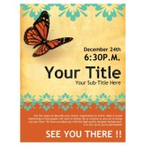 Church Flyer Butterfly