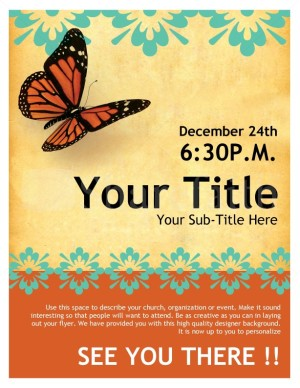 free flyer templates for church events - church flyer butterfly template flyer templates
