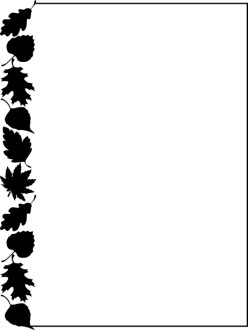 Leaves Black and White clipart