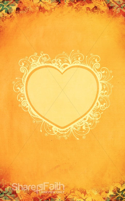 Thanksgiving Heart Bulletin Cover
