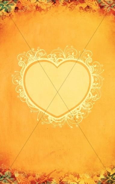Thanksgiving Heart Bulletin Cover