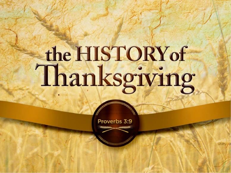 History Of Thanksgiving Sermon Slideshow