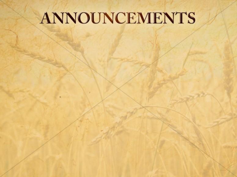 Harvest Thanksgiving Announcement Slide