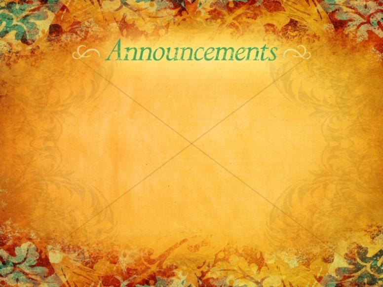 Thanksgiving Announcement Background