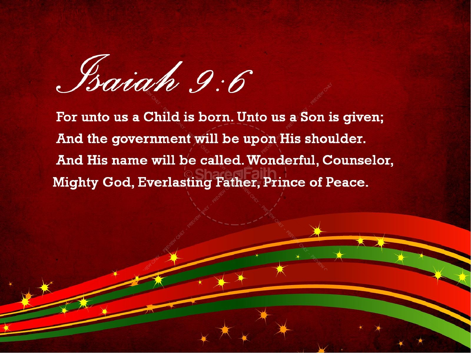 Christmas Joy Christian PowerPoint