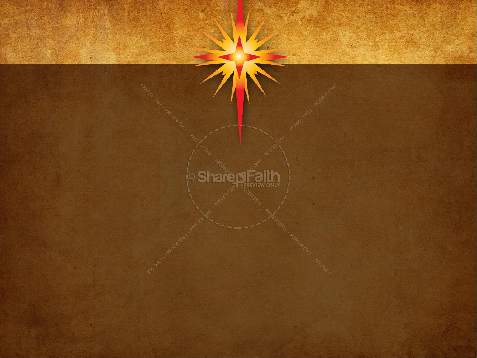 Star Of Bethlehem Christmas PowerPoint
