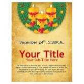 Christmas Wreath Church Flyer
