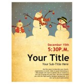 Snowman Christmas Flyer