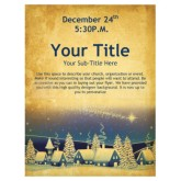 Christmas Cabins Church Flyer