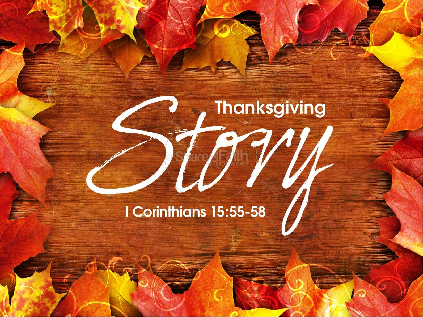 Thanksgiving Story Sermon Presentation | slide 1