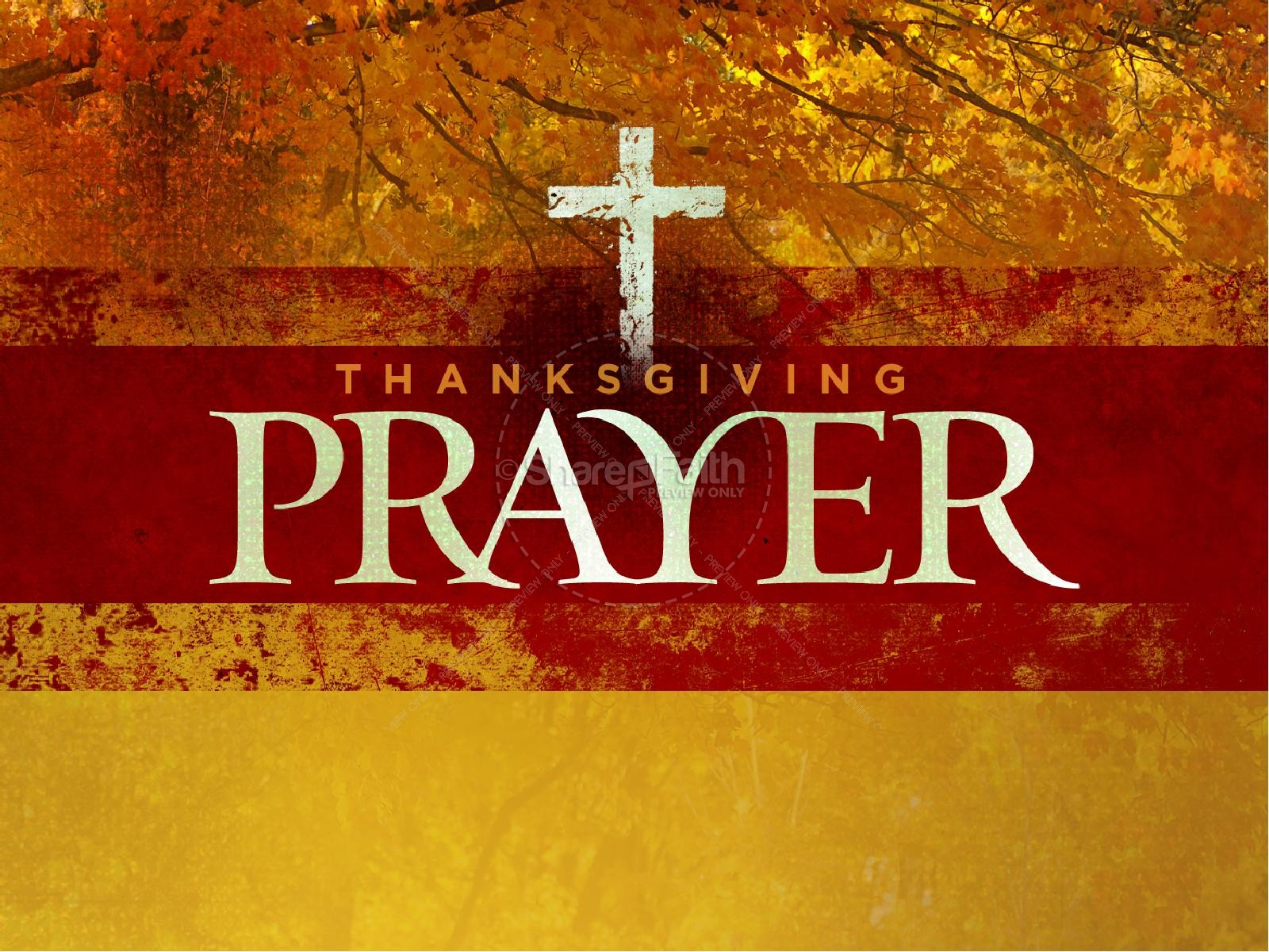 Thanksgiving Prayer Sermon PowerPoint