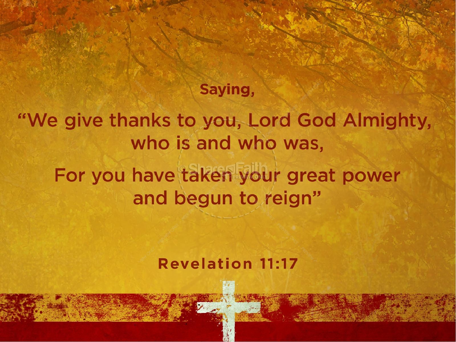 Thanksgiving Prayer Sermon PowerPoint | slide 4