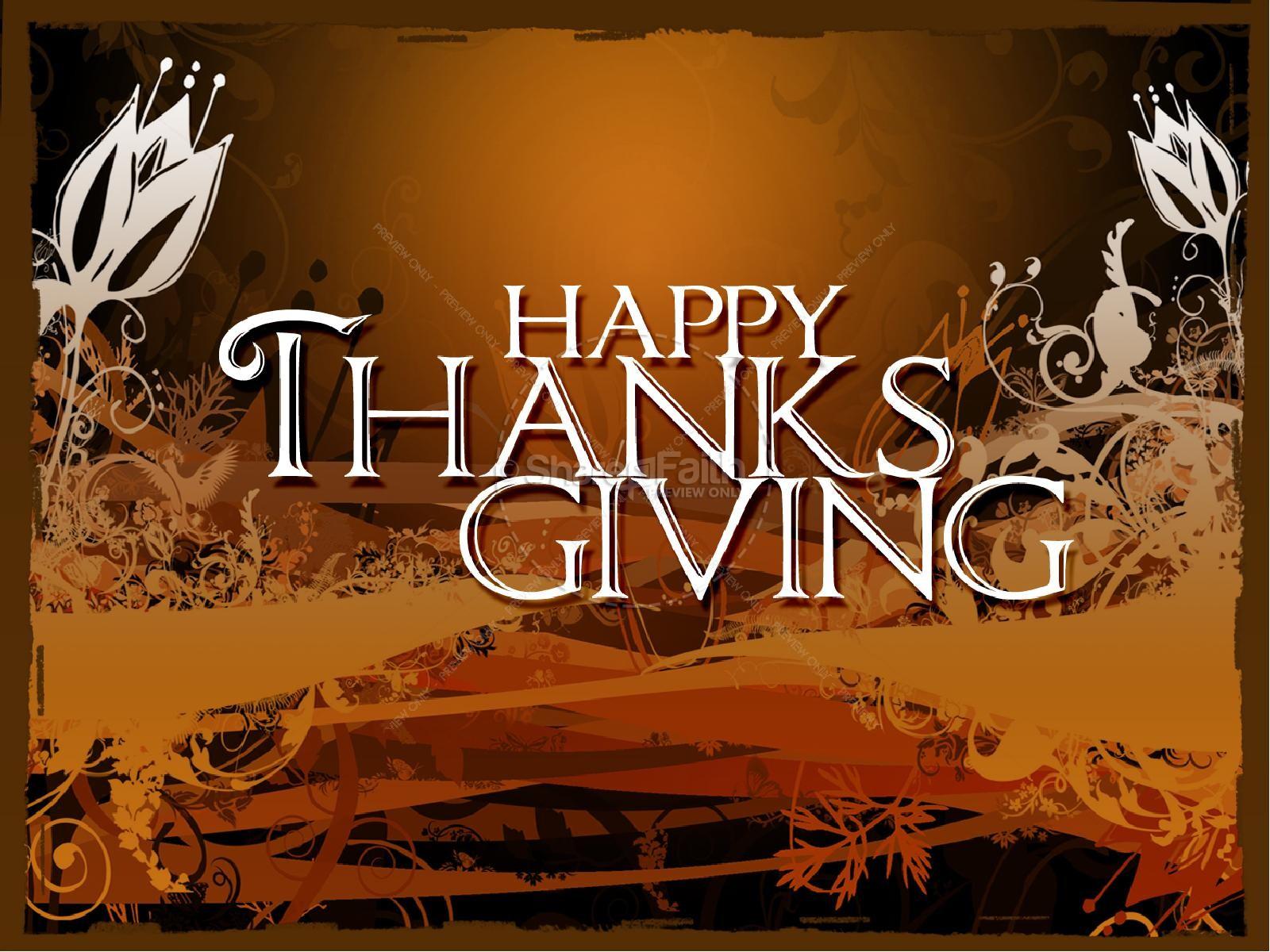 Thanksgiving Happiness Sermon PowerPoint