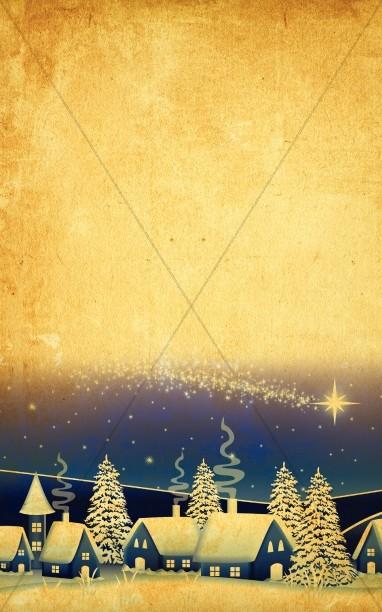 Christmas Nativity Bulletin Cover