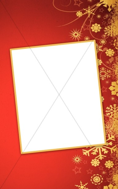 Snowflakes Christmas Bulletin Cover