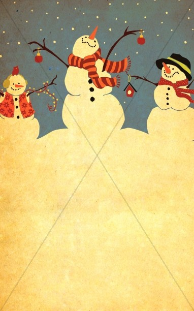 Let It Snow Bulletin Cover