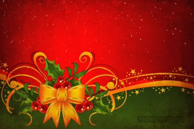 Christmas Bow Video Background