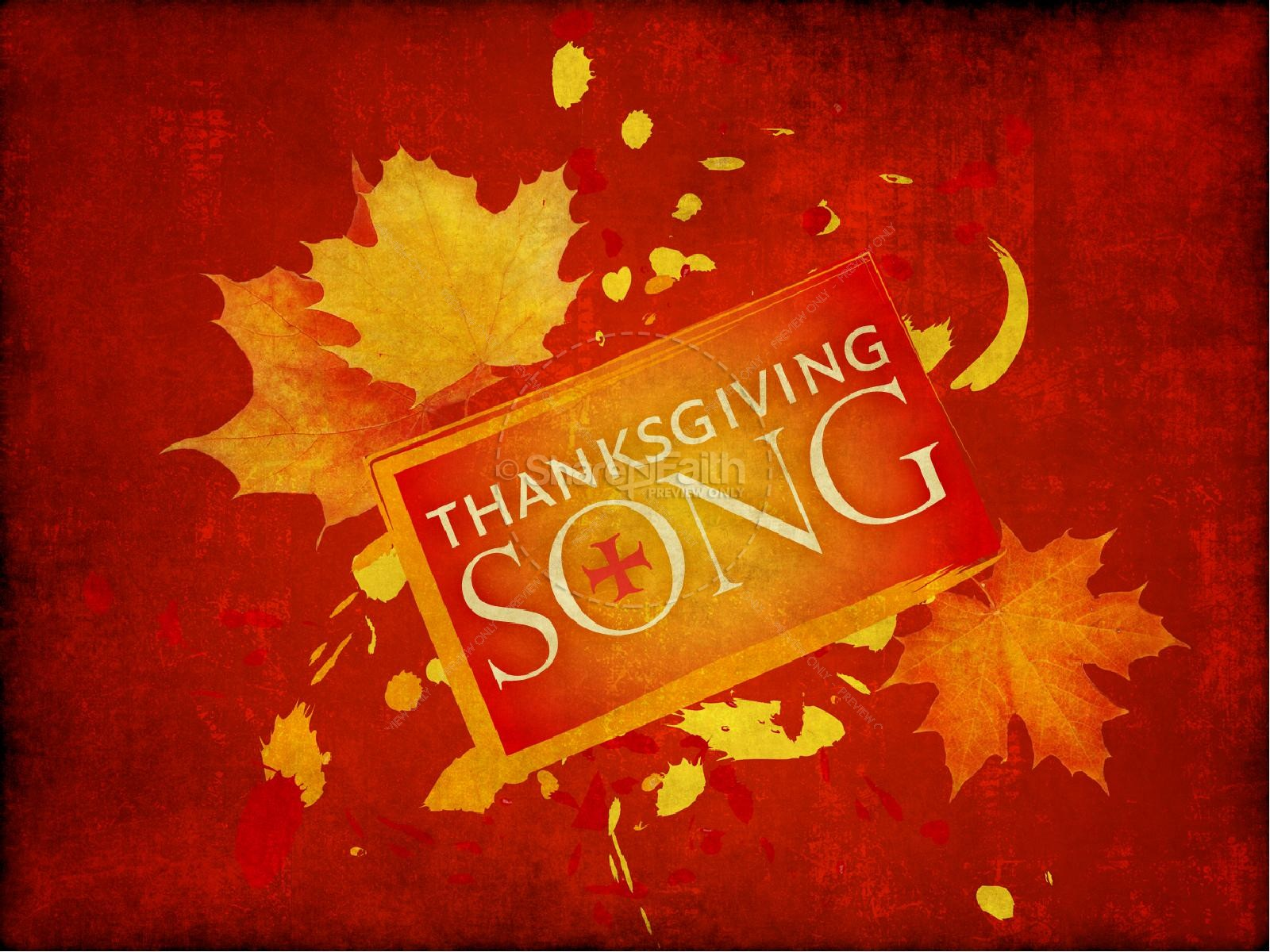 Thanksgiving Song PowerPoint