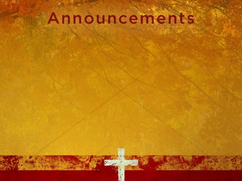 Prayer Of Thanks Announcement Slide