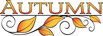 Autumn Leaves Word Art