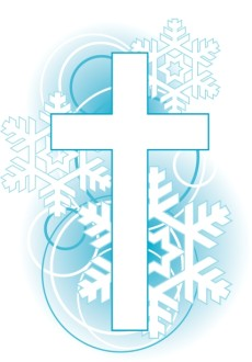 Cross Snowflakes Clip Art