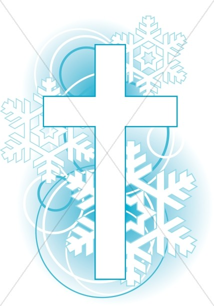 Cross Snowflakes Clip Art