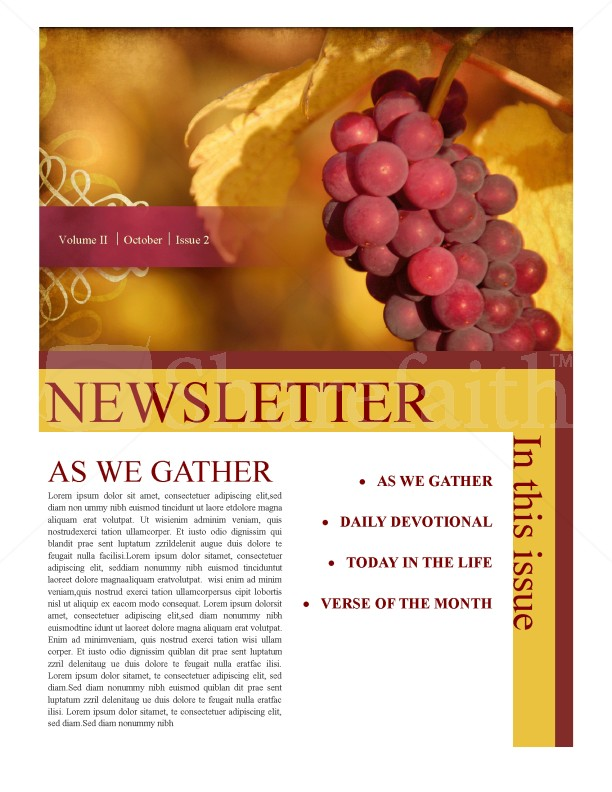 Thanksgiving Joy Newsletter