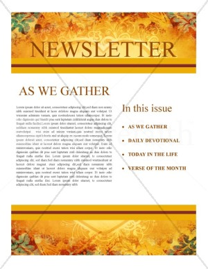 Heart Of Thanksgiving Newsletter