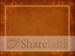 Snowflake Frame Worship Background