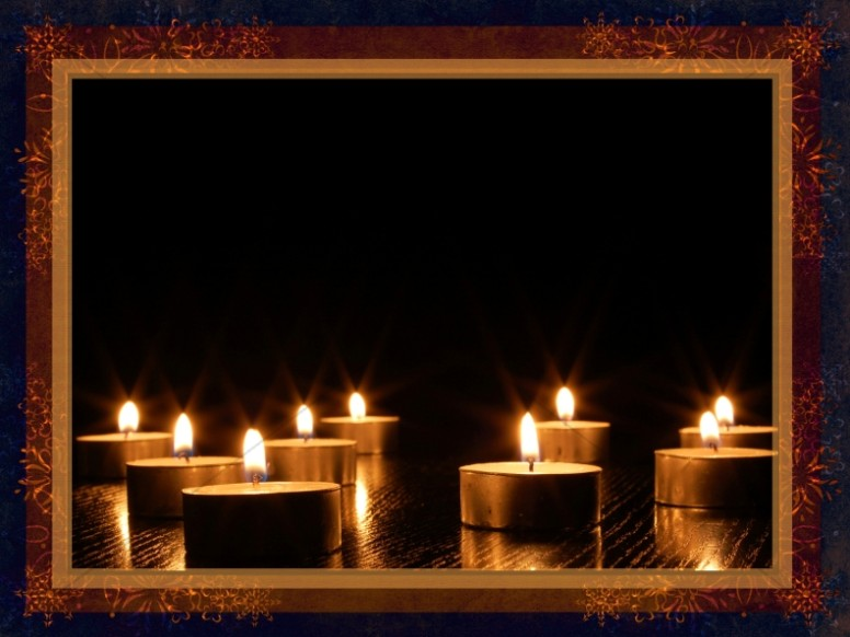 christmas candles worship background