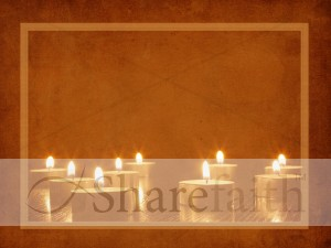 Advent Candles Worship Background
