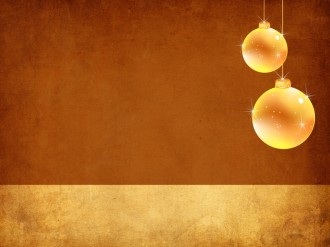 Christmas Ornaments Worship Background Slide