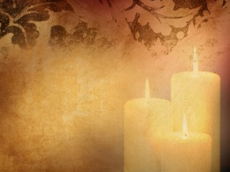 Three Candles Worship Background