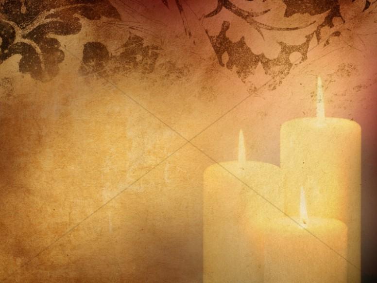 Three Candles Worship Background