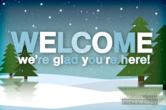 Christmas Season Welcome Video Loop