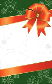 Christmas Bow Bulletin Cover