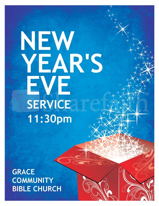 New Years Eve Church Flyer