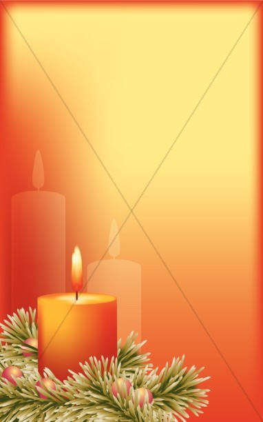 Advent Candle Bulletin Cover