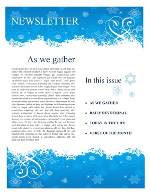Winter Church Newsletter Template | Newsletter Templates