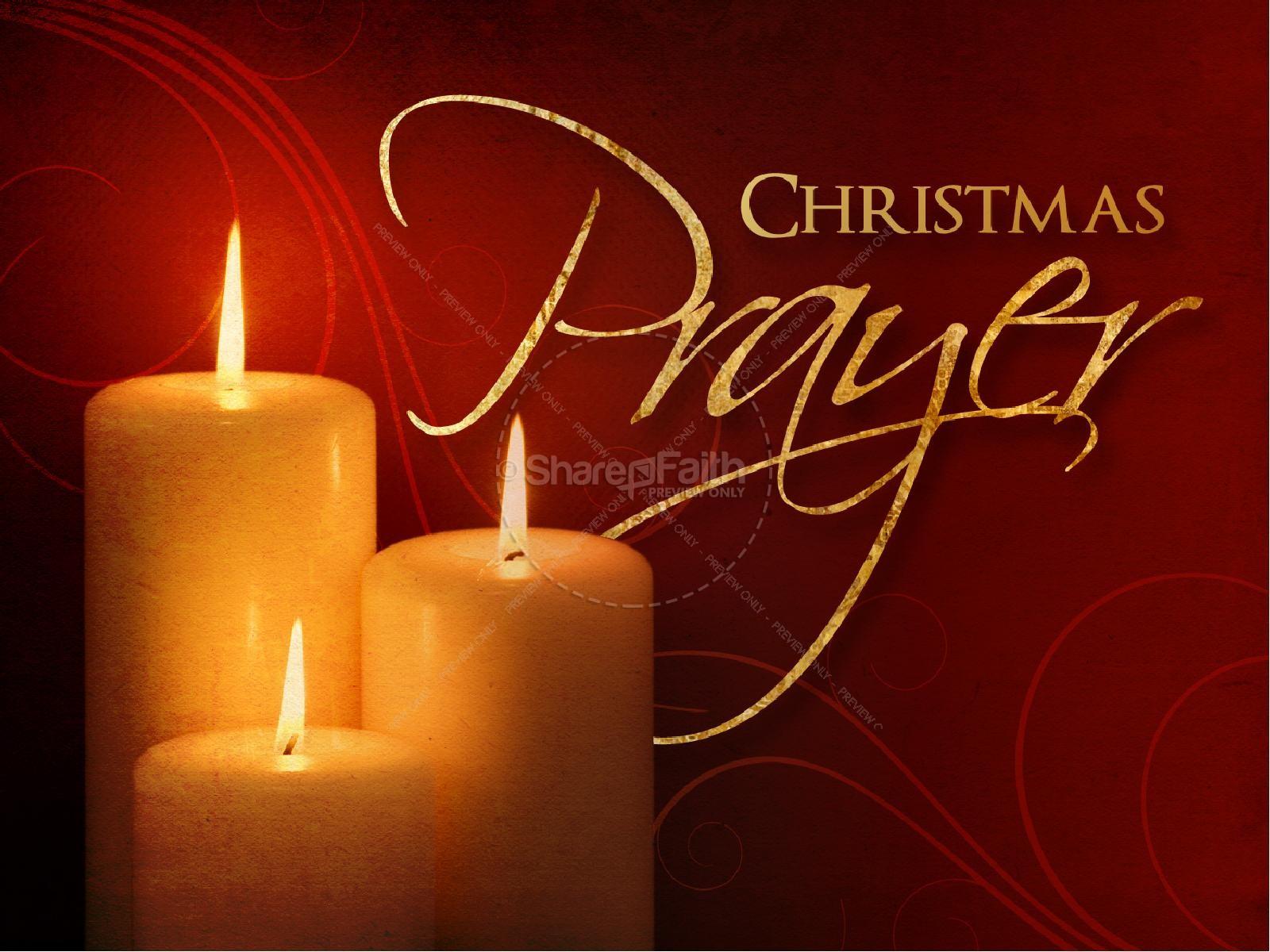 Christmas Prayer PowerPoint Presentation