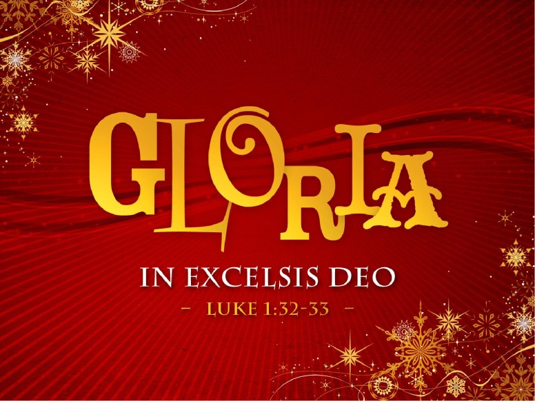 Gloria In Excelsis Deo PowerPoint