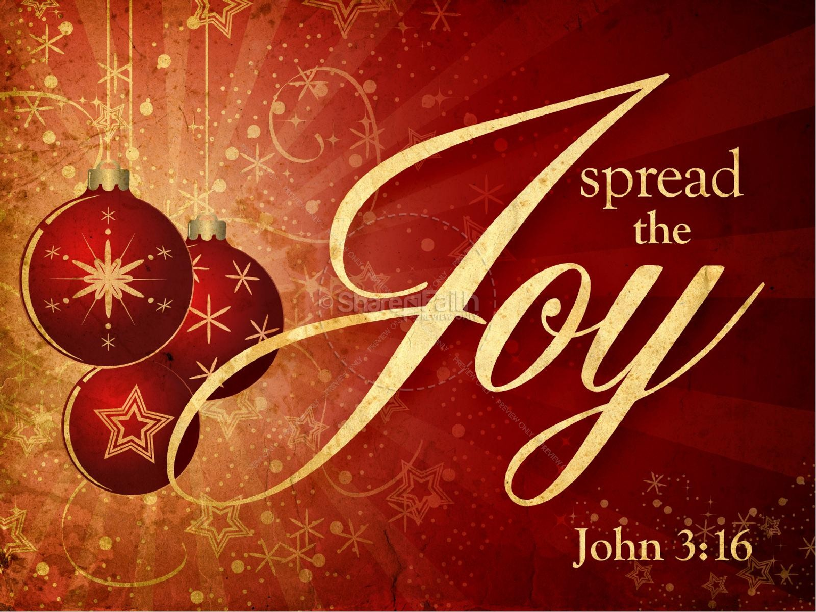 Spread The Joy Christmas PowerPoint | slide 1
