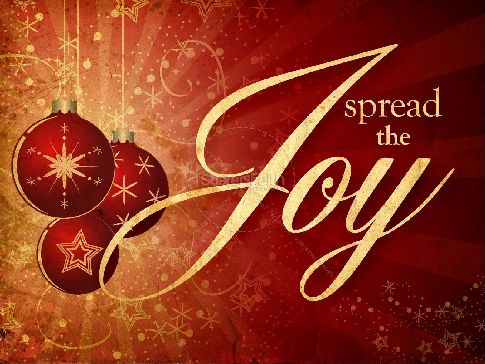 Spread The Joy Christmas PowerPoint | slide 2