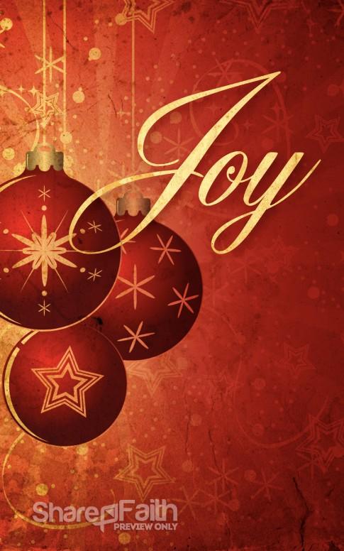 The Christmas Joy Bulletin Cover Christmas Bulletins