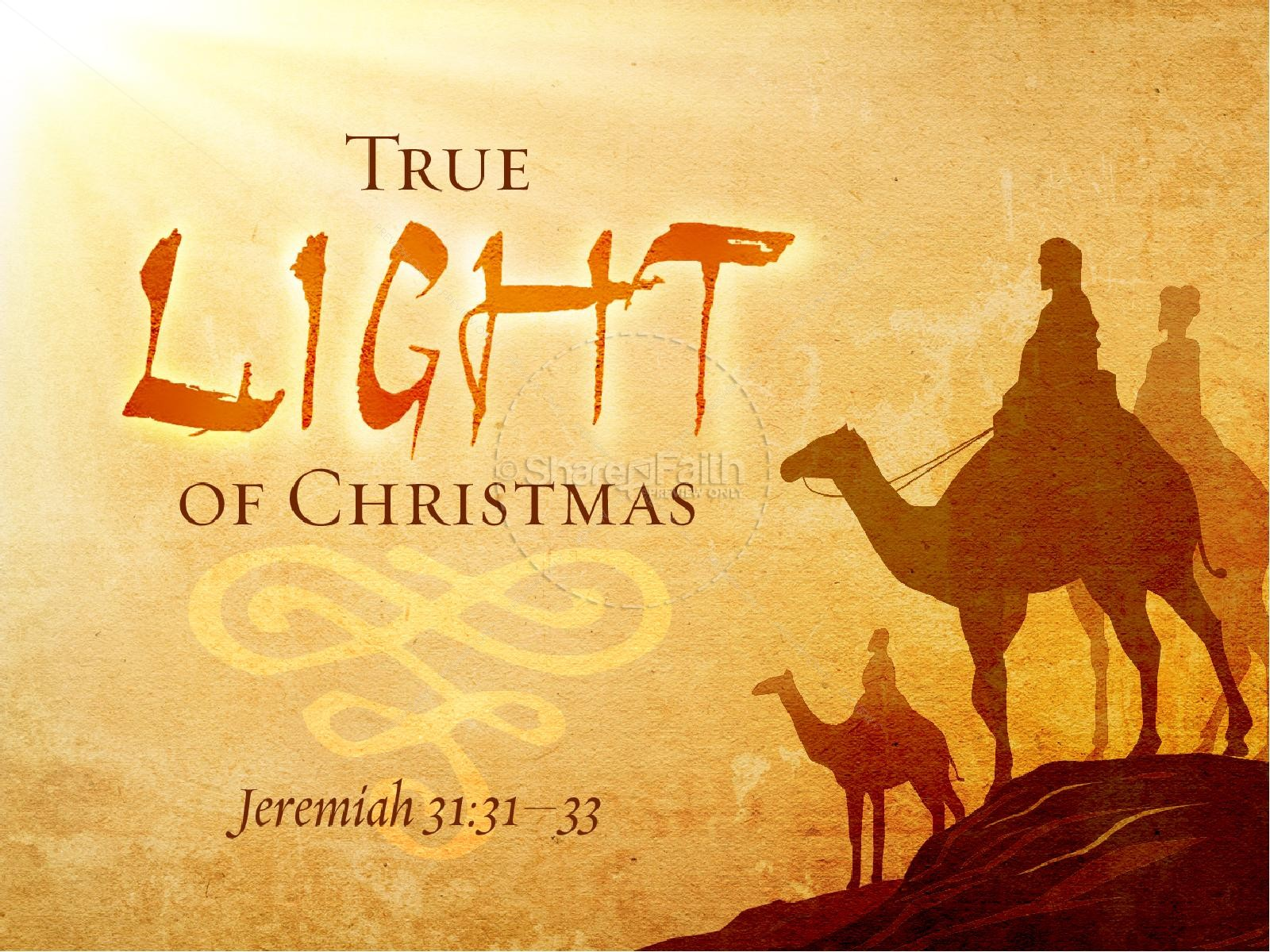 True Light Of christmas PowerPoint Template